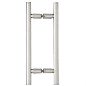"""CRL Satin Chrome 8"""" Ladder Style Back-to-Back Pull Handles CRL LP8X8SC"""