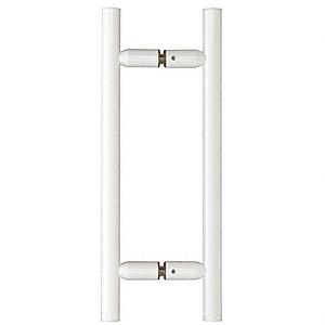 "CRL White 8"" Ladder Style Back-to-Back Pull Handles CRL LP8X8W"