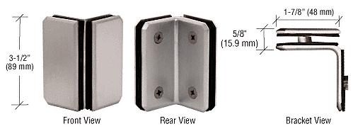 CRL Brushed Nickel Monaco Series Glass-to-Glass Bracket CRL M0090BN