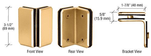 CRL Brass Monaco Series Glass-to-Glass Bracket CRL M0090BR