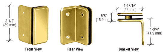 CRL Brass Monaco Series Wall Mount Bracket CRL M090SBR