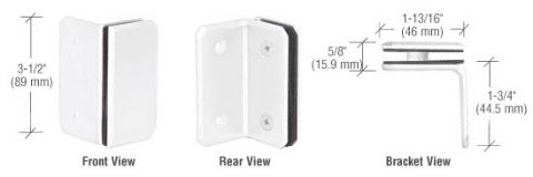White Monaco Series Wall Mount Bracket - CRL M090SWf