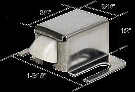 CRL Brushed Stainless Finish Shower Door Catch with Nylon Tip - Bulk 25 Pack CRL M6014B