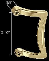 CRL Brass Single Sided Shower Door Pull Handle CRL M6017