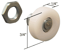 """CRL 3/4"""" Nylon Ball Bearing Flat Edge Shower Door Roller CRL M6031"""