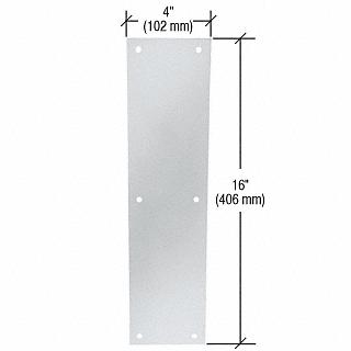 "CRL Clear Anodized Push Plates 4"" x 16"" CRL M60428"