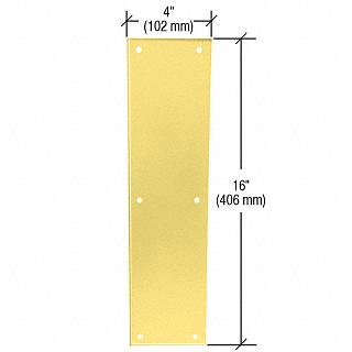 "CRL Polished Brass Push Plates 4"" x 16"" CRL M6043PB"