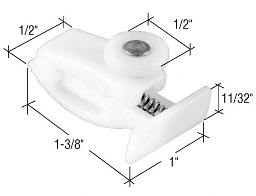 CRL Sliding Sectional Shower Door Guide Roller Assembly for Leading Edge CRL M6047