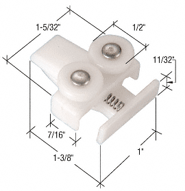 CRL Sliding Sectional Shower Door Guide Roller Assembly for Mid-Panel CRL M6048