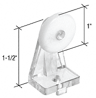 """CRL 1"""" Nylon Oval Edge Roller with Nylon Bracket CRL M6071"""