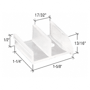 "CRL 1-5/8"" Wide Tub Enclosure Sliding Door Bottom Guide for Sterling CRL M6111"
