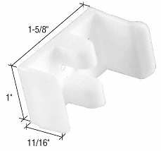 "CRL 1-5/8"" Wide Sliding Shower Door Jamb Guide for Sterling CRL M6112"