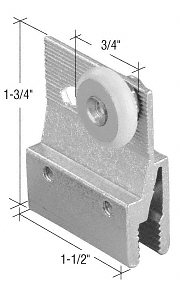 "CRL 3/4"" Sliding Shower Door Roller and Bracket CRL M6145"