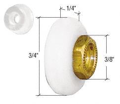 "CRL 3/4"" Sliding Oval Edge Shower Door Roller and Bumper CRL M6166"
