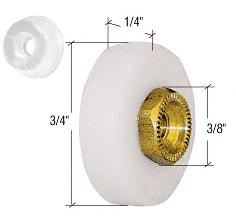 "CRL 3/4"" Sliding Flat Edge Shower Door Roller and Bumper CRL M6167"