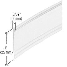 """CRL Clear Round Top """"Bulb"""" Type Shower Door Bottom Seal and Wipe CRL M6184"""