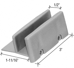 "CRL 1-11/16"" Wide Sliding Shower Door Bottom Guide CRL M6192"