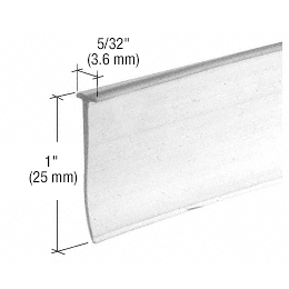 CRL Clear Shower Door Bottom 'T' Seal and Wipe CRL M6211