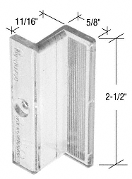 "CRL Clear Plastic ""Z"" Shaped Shower Door Pull Handle - 2/Pk CRL M6220"