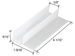 "CRL 1-9/16"" Wide Sliding Shower Door Bottom Guide CRL M6221"