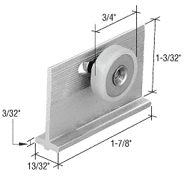 "CRL 3/4"" Sliding Shower Door Roller and Bracket CRL M6233"