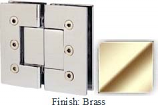 Brass Masis 783 Series Heavy Duty with Square Edges 180 Degree Glass-To-Glass Hinge - MA783A_BR