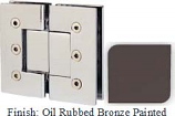 Oil Rubbed Bronze Painted Masis 783 Series Heavy Duty with Square Edges 180 Degree Glass-To-Glass Hinge - MA783A_ORB
