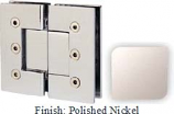 Polished Nickel Masis 783 Series Heavy Duty with Square Edges 180 Degree Glass-To-Glass Hinge - MA783A_PN