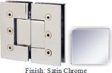 Satin Nickel Masis 783 Series Heavy Duty with Square Edges 180 Degree Glass-To-Glass Hinge - MA783A_SN
