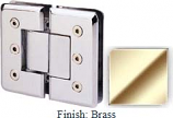 Brass Masis 783R Series Heavy Duty Beveled with Round Edges 180 Degree Glass-to-Glass Hinge - MA783AR_BR
