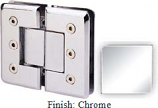 Chrome Masis 783R Series Heavy Duty Beveled with Round Edges 180 Degree Glass-to-Glass Hinge - MA783AR_CR