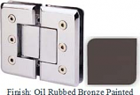 Oil Rubbed Bronze Painted Masis 783R Series Heavy Duty Beveled with Round Edges 180 Degree Glass-to-Glass Hinge - MA783AR_ORB