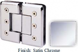 Satin Chrome Masis 783R Series Heavy Duty Beveled with Round Edges 180 Degree Glass-to-Glass Hinge - MA783AR_SCR