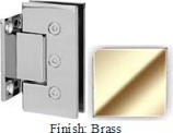 Brass Masis 783 Series Heavy Duty with Square Edges Wall Mount Short Back Plate Hinge - MA783C_BR