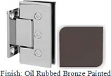 Oil Rubbed Bronze Painted Masis 783 Series Heavy Duty with Square Edges Wall Mount Short Back Plate Hinge - MA783C_ORB