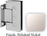 Polished Nickel Masis 783 Series Heavy Duty with Square Edges Wall Mount Short Back Plate Hinge - MA783C_PN
