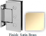 Satin Brass Masis 783 Series Heavy Duty with Square Edges Wall Mount Short Back Plate Hinge - MA783C_SBR