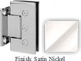Satin Nickel Masis 783 Series Heavy Duty with Square Edges Wall Mount Short Back Plate Hinge - MA783C_SN