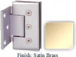 Satin Brass Masis 783 Series Heavy Duty with Square Edges Wall Mount Offset Short Back Plate Hinge - MA783C-2_SBR