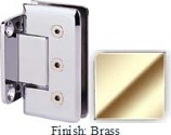 Brass Masis 783R Series Heavy Duty Beveled with Round Edges Wall Mount Short Back Plate Hinge - MA783CR_BR