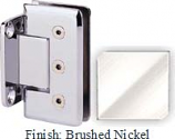 Brushed Nickel Masis 783R Series Heavy Duty Beveled with Round Edges Wall Mount Short Back Plate Hinge - MA783CR_BN