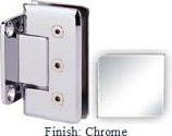 Chrome Masis 783R Series Heavy Duty Beveled with Round Edges Wall Mount Short Back Plate Hinge - MA783CR_CR