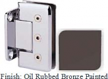 Oil Rubbed Bronze Painted Masis 783R Series Heavy Duty Beveled with Round Edges Wall Mount Short Back Plate Hinge - MA783CR_ORB