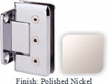 Polished Nickel Masis 783R Series Heavy Duty Beveled with Round Edges Wall Mount Short Back Plate Hinge - MA783CR_PN