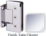 Satin Chrome Masis 783R Series Heavy Duty Beveled with Round Edges Wall Mount Short Back Plate Hinge - MA783CR_SCR