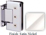 Satin Nickel Masis 783R Series Heavy Duty Beveled with Round Edges Wall Mount Short Back Plate Hinge - MA783CR_SN