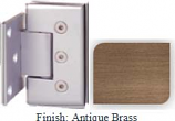 Antique Brass Masis 783 Series Heavy Duty with Square Edges Wall Mount Offset Short Back Plate Hinge - MA783C-2_ABR