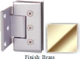 Brass Masis 783R Series Heavy Duty Beveled with Round Edges Wall Mount Offset Short Back Plate Hinge - MA783CR-2_BR
