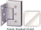 Brushed Nickel Masis 783R Series Heavy Duty Beveled with Round Edges Wall Mount Offset Short Back Plate Hinge - MA783CR-2_BN