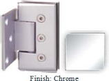 Chrome Masis 783R Series Heavy Duty Beveled with Round Edges Wall Mount Offset Short Back Plate Hinge - MA783CR-2_CR
